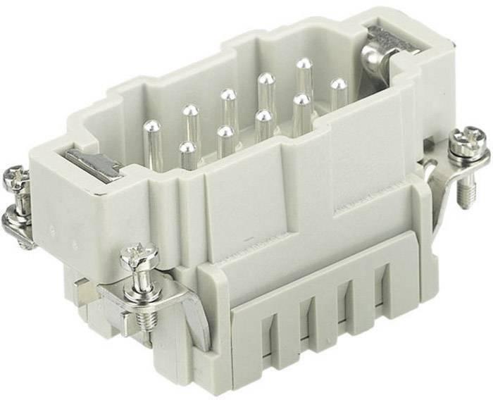Vložka pinového konektoru Harting Han® E 09 33 006 2616, 6 + PE, klecová tažná pružina připojení, 1 ks