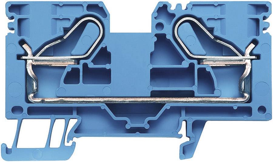 Průchozí svorka řadová Weidmüller PDU 16 BL (1896220000), 12,1 mm, modrá