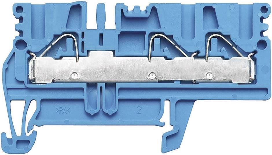 Průchozí svorka řadová Weidmüller PDU 2.5/4/3AN BL (1896240000), 5,1 mm, modrá