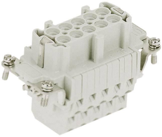 Konektorová vložka, zásuvka Harting Han® E 09 33 010 2772, 10 + PE, klecová tažná pružina připojení, 1 ks