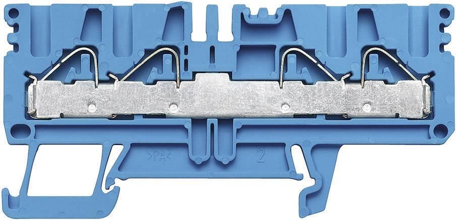 Průchozí svorka řadová Weidmüller PDU 2.5/4/4AN BL (1896250000), 5,1 mm, atolově modrá