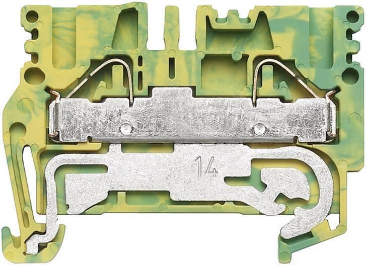 Svorka řadová s ochr. vodičem Weidmüller PPE 2.5/4 (1896170000), 5,1 mm, zelenožlutá