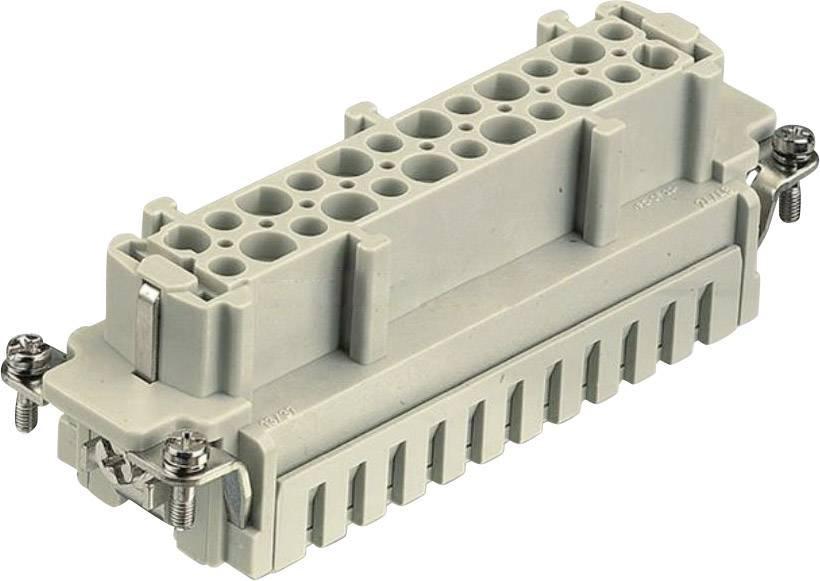 Konektorová vložka, zásuvka Harting Han® E 09 33 024 2716, 24 + PE, klecová tažná pružina připojení, 1 ks