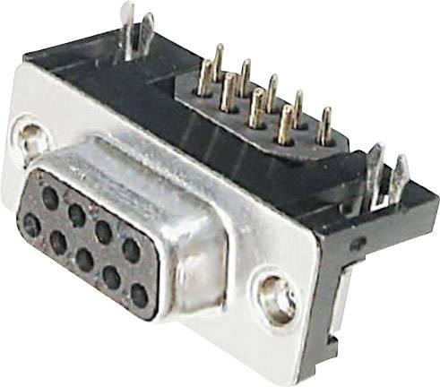 D-SUB zásuvková lišta ASSMANN WSW A-DF 09 A/KG-F, 90 °, Počet pinov 9, spájkovaný konektor, 1 ks