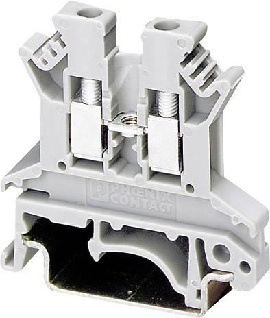 Průchozí svorka Phoenix Contact UK 2,5 N (3003347), šroubovací, 5,2 mm, šedá