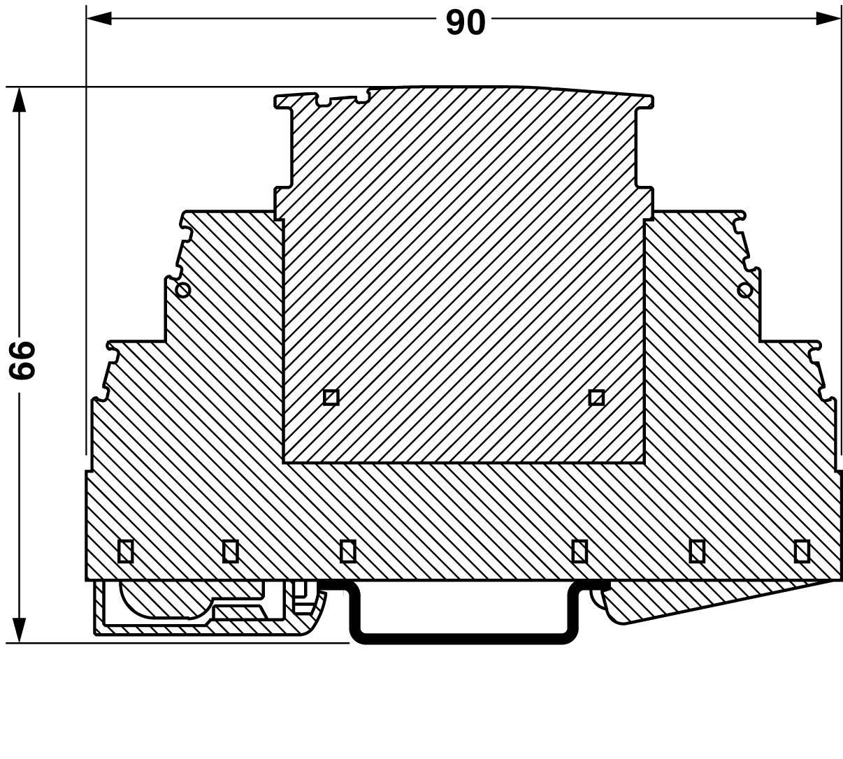 Základní element pro svodiče přepětí Phoenix Contact, 2839282, 230 V/AC, 20 A