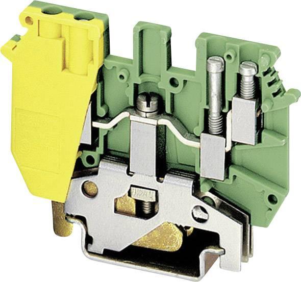 Trojitá svorka ochranného vodiče Phoenix Contact UDK 4-PE 2775184, 1 ks, zelenožlutá