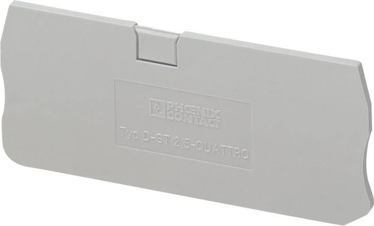 Zakončovací kryt Phoenix Contact D-ST 2,5-QUATTRO (3030514), pistolová šedá