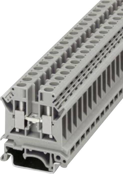 Řadová svorka Phoenix Contact UK 6 N (3004524), šroubovací, 8,2 mm, šedá
