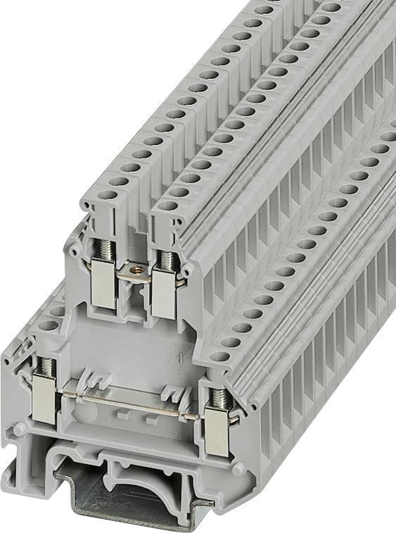 Dvojřadá svorka Phoenix Contact UKK 5 (2774017), šroubovací, 6,2 mm, šedá