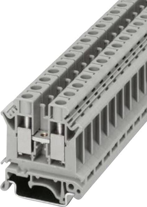 Řadová svorka Phoenix Contact UK 10 N (3005073), šroubovací, 10,2 mm, šedá