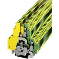 Dvojřadá svorka instalační Phoenix Contact UKK 5-PE (2774211), šroubovací, 6,2 mm, zelenožlutá