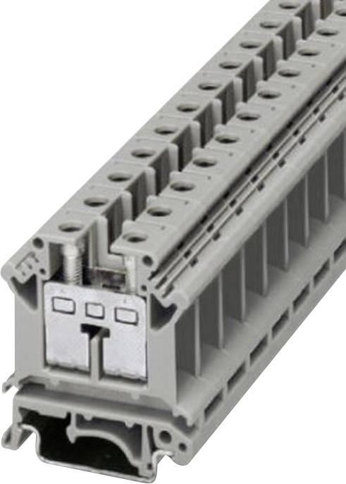 Řadová svorka Phoenix Contact UIK 16 (3006153), šroubovací, 12,2 mm, šedá
