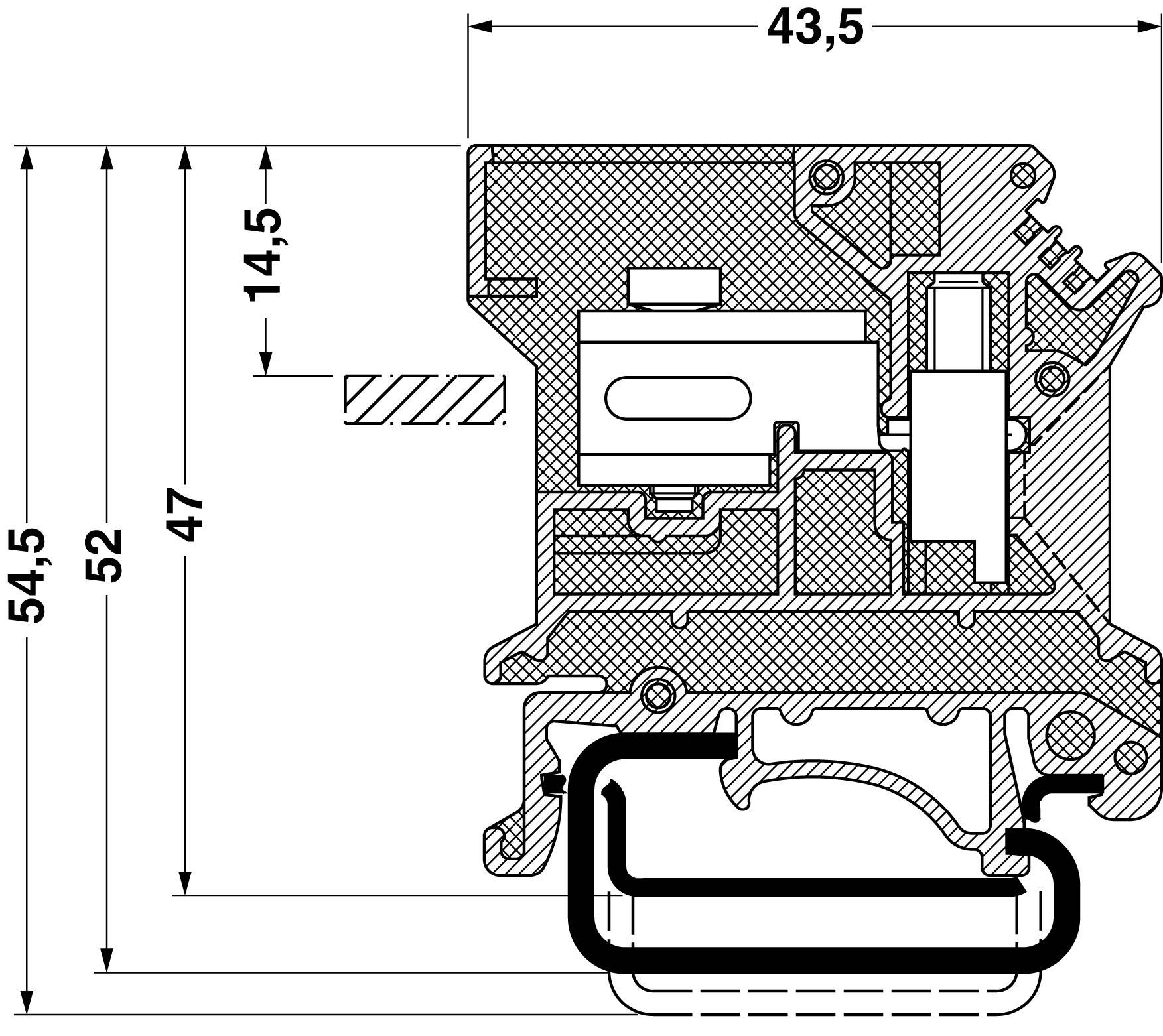 Oddělovací svorka Phoenix Contact UKN 6 N BU 3024041, 1 ks, modrá