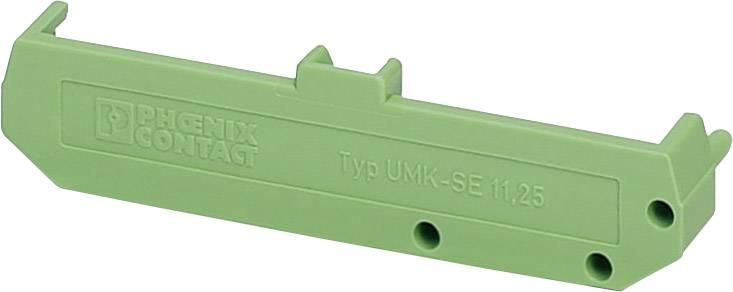 Boční část pouzdra na DIN lištu Phoenix Contact UMK- SE 11,25 (2970002), zelená