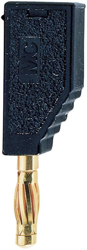Lamelový konektor Ø 4 mm MultiContact SLS425-A (22.2631-21), zástrčka rovná, černá