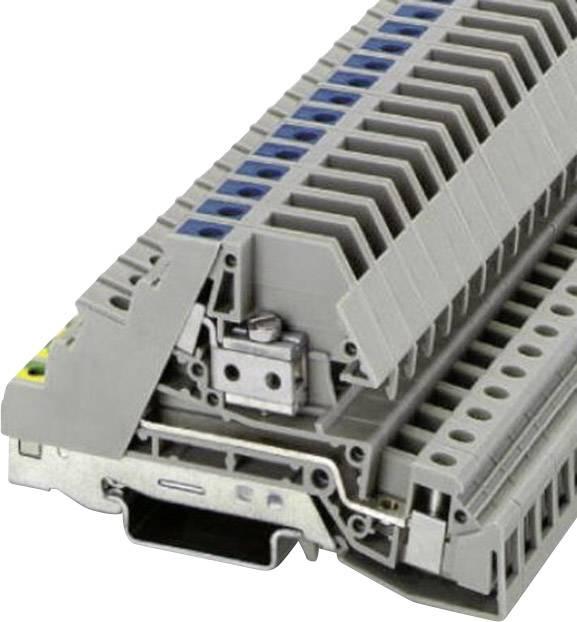 Trojřadá svorkovnice Phoenix Contact PIK 6-PE/L/NT (2714268), šroubovací, 8,2 mm, šedá