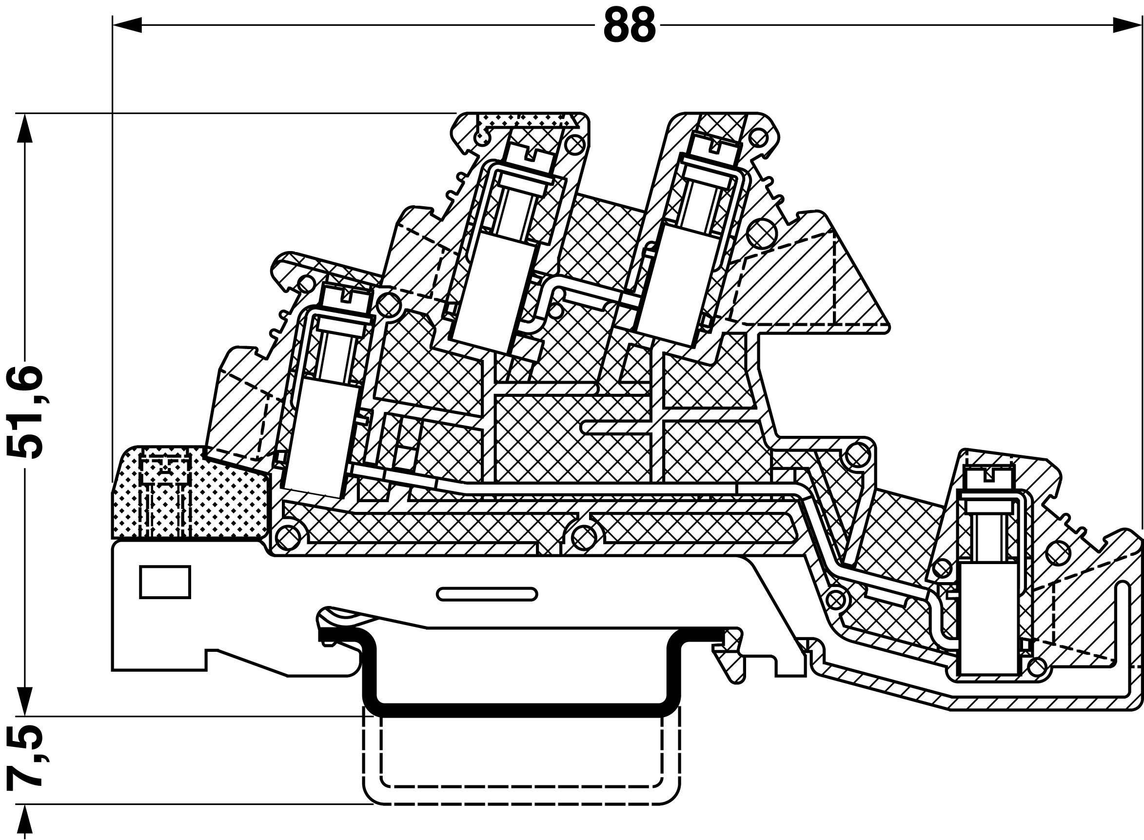 Instalační svorka ochranného vodiče Phoenix Contact PIK 6-PE/L/N 2714297, 1 ks, šedá