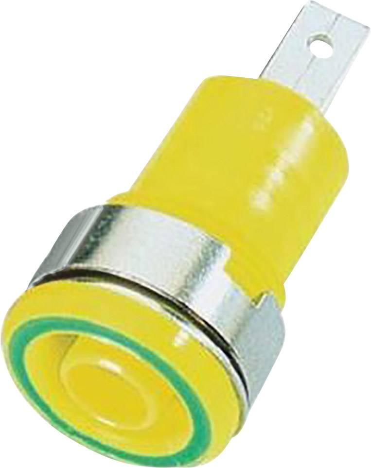 Bezpečnostní zdířka MultiContact SLB 4-F/A, žlutá/zelená