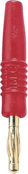 Banánek Stäubli SLS410-L – zástrčka, rovná, Ø hrotu: 4 mm, červená, 1 ks