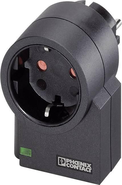 Medzizásuvka s prepäťovou ochranou Phoenix Contact MNT-1D 2882200, 3 kA, čierna