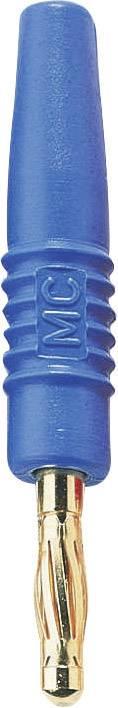 Lamelová zástrčka Stäubli SLS410-L – zástrčka, rovná, Ø hrotu: 4 mm, modrá, 1 ks