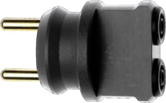Bezpečnostný zásuvný adaptér Stäubli A-NETZ/SLK 4 zásuvka 4 mm sivá, 1 ks