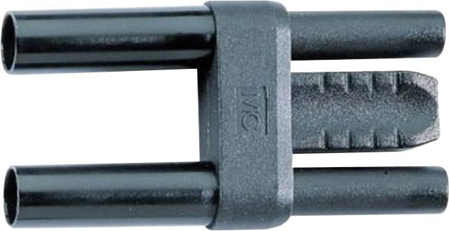 Bezpečnostný skratový mostík Stäubli SKS 4-19 L/1, Ø hrotu 4 mm, rozostup hrotov 19 mm, čierna, 1 ks
