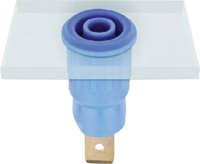 Lisovaná bezpečnostní zdířka MultiContact SEB4-F6,3, modrá