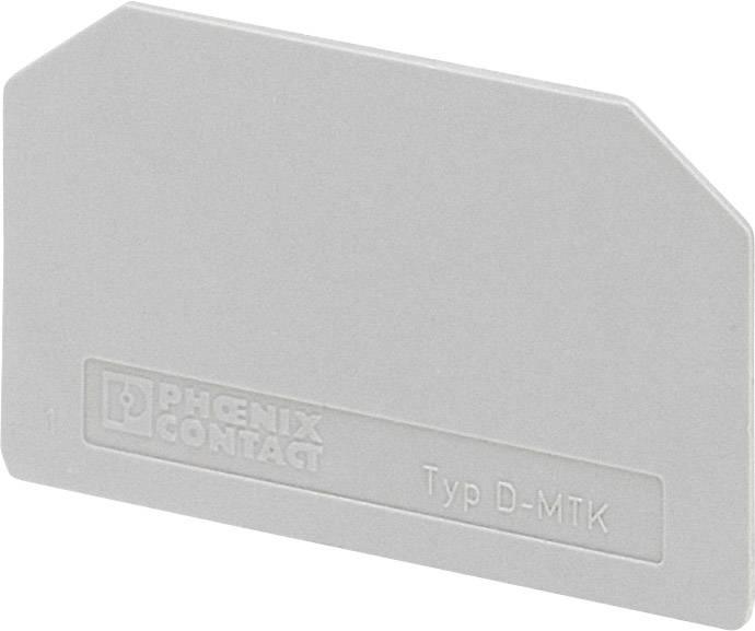 Koncová destička Phoenix Contact D-MTK (3101029), šedá