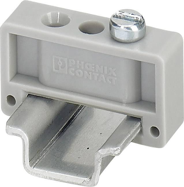 Koncový držák Phoenix Contact E/MK (1421633), 22 mm, šedá