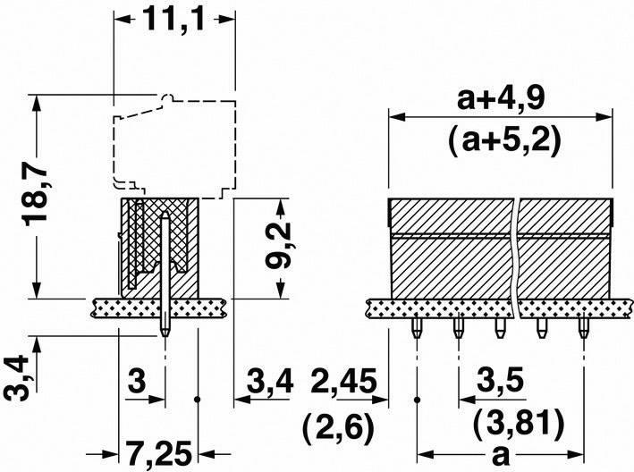Svorkovnice 1řadá do DPS Phoenix Contact MCV 1,5/ 3-G-5,08 (1836309), 3pól., zelená
