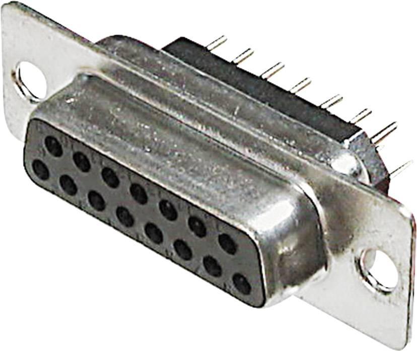 D-SUB zásuvková lišta ASSMANN WSW A-DF 15 PP, 180 °, počet pinov 15, spájkovaný konektor, 1 ks