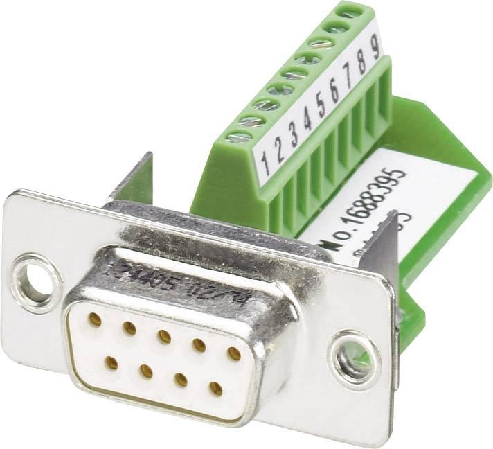 D-SUB zásuvka Phoenix Contact VS-09-BU-DSUB/9-MPT-0,5, 180 °, počet pinov 9, skrutkovací, 1 ks