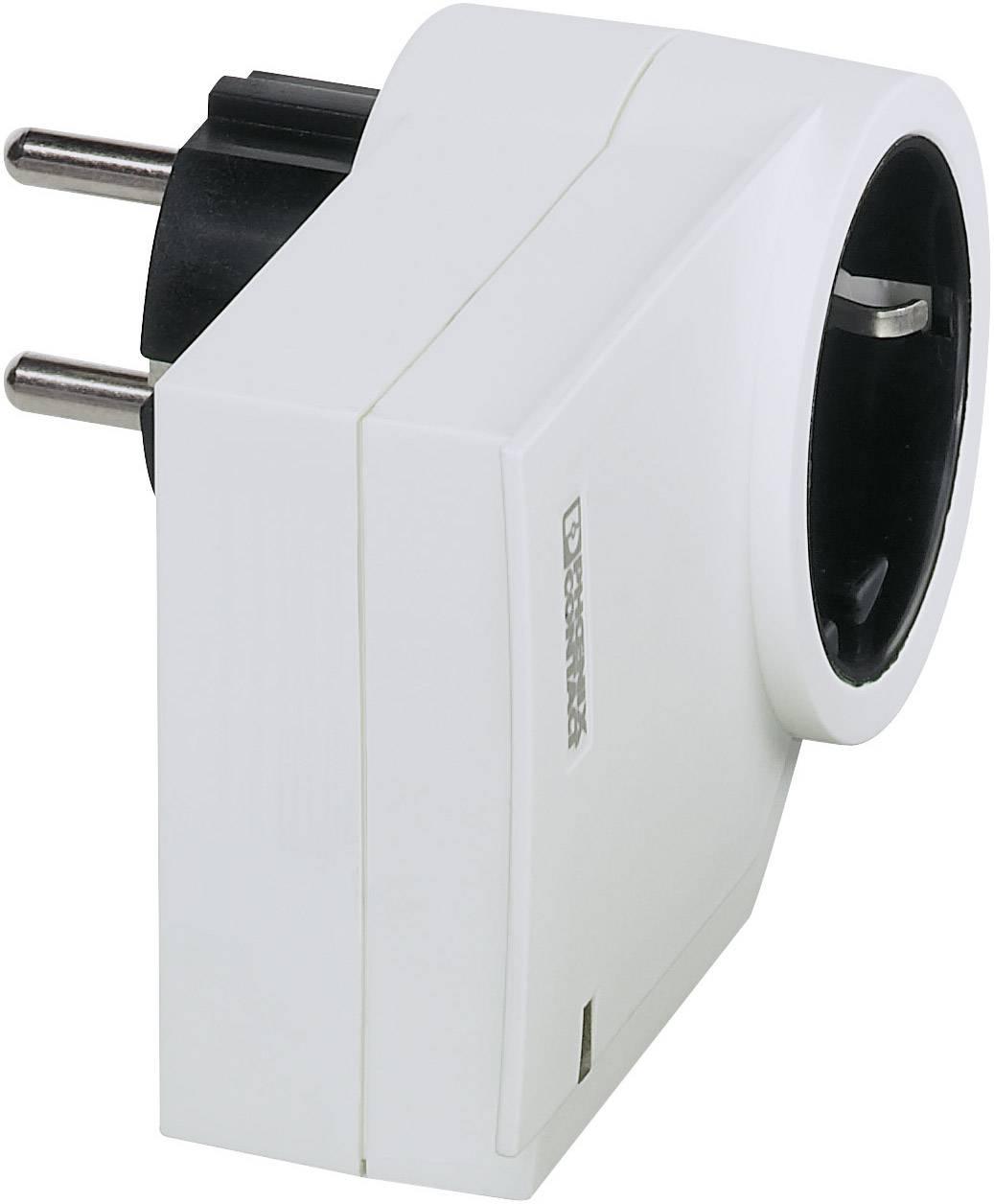 Medzizásuvka s prepäťovou ochranou Phoenix Contact MNT-1D/WH 2882213, 3 kA, biela