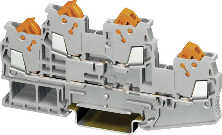 Dvouřadová svorkovnice Phoenix Contact, QTTCB 1,5, 17,5 A, 500 V, šedá