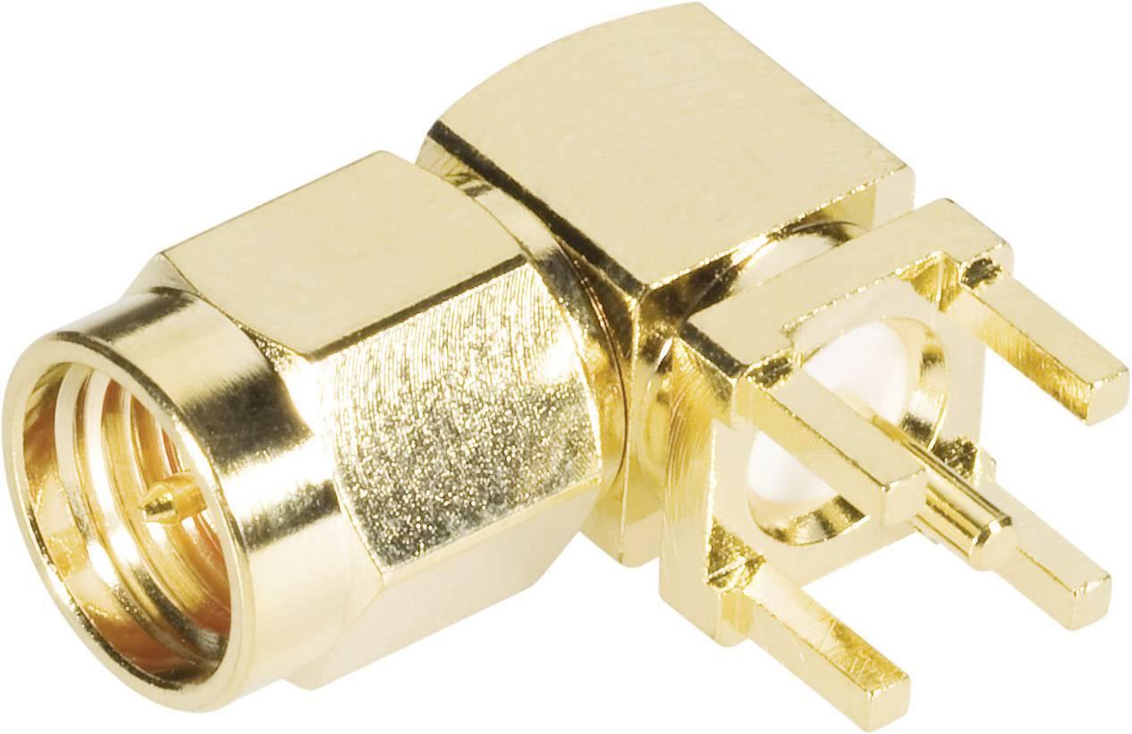 SMA konektor BKL 409060, 50 Ω, zástrčka uhlová do DPS