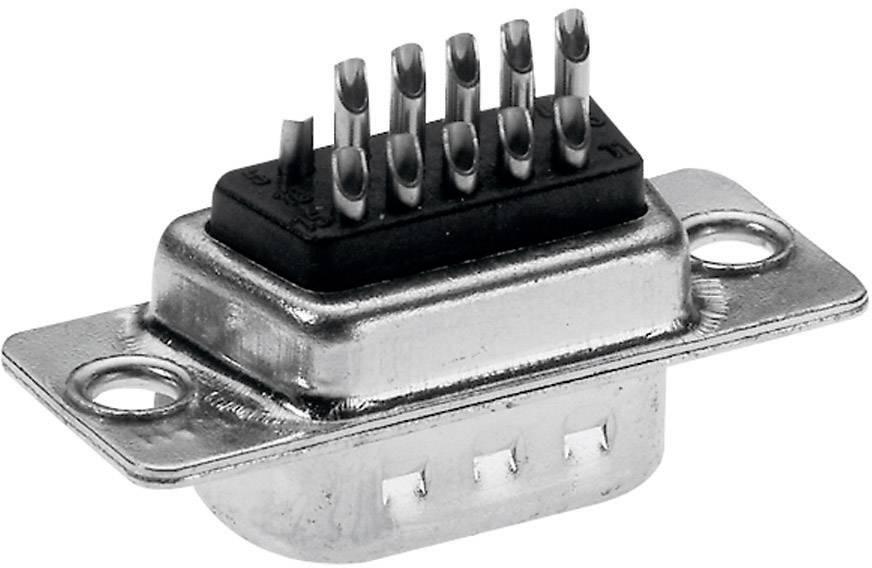 D-SUB zásuvková lišta Provertha HT1561G3, 180 °, pólů 15, pájecí kalíšek, 1 ks