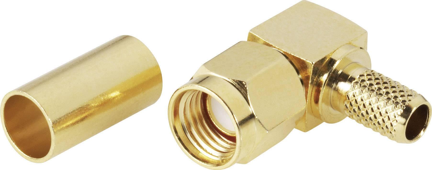 SMA reverzný konektor BKL 419112, 50 Ω, zástrčka uhlová