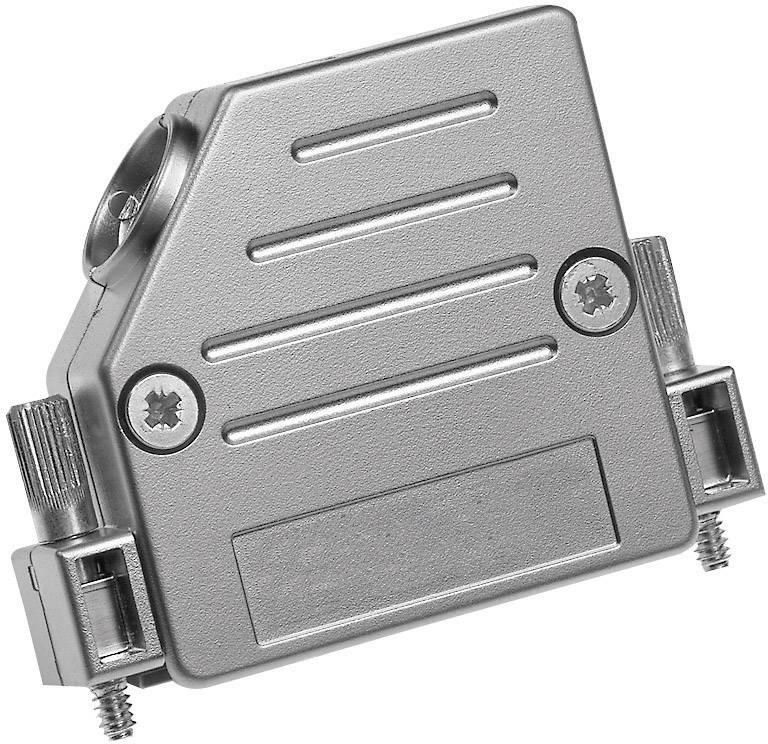 D-SUB púzdro Provertha 47090M25T001 47090M25T001, Počet pinov: 9, plast, pokovaný, 45 °, strieborná, 1 ks