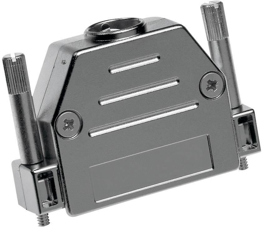 D-SUB pouzdro Provertha 17250M38T001 17250M38T001, pólů 25, plast, pokovený, 180 °, stříbrná, 1 ks