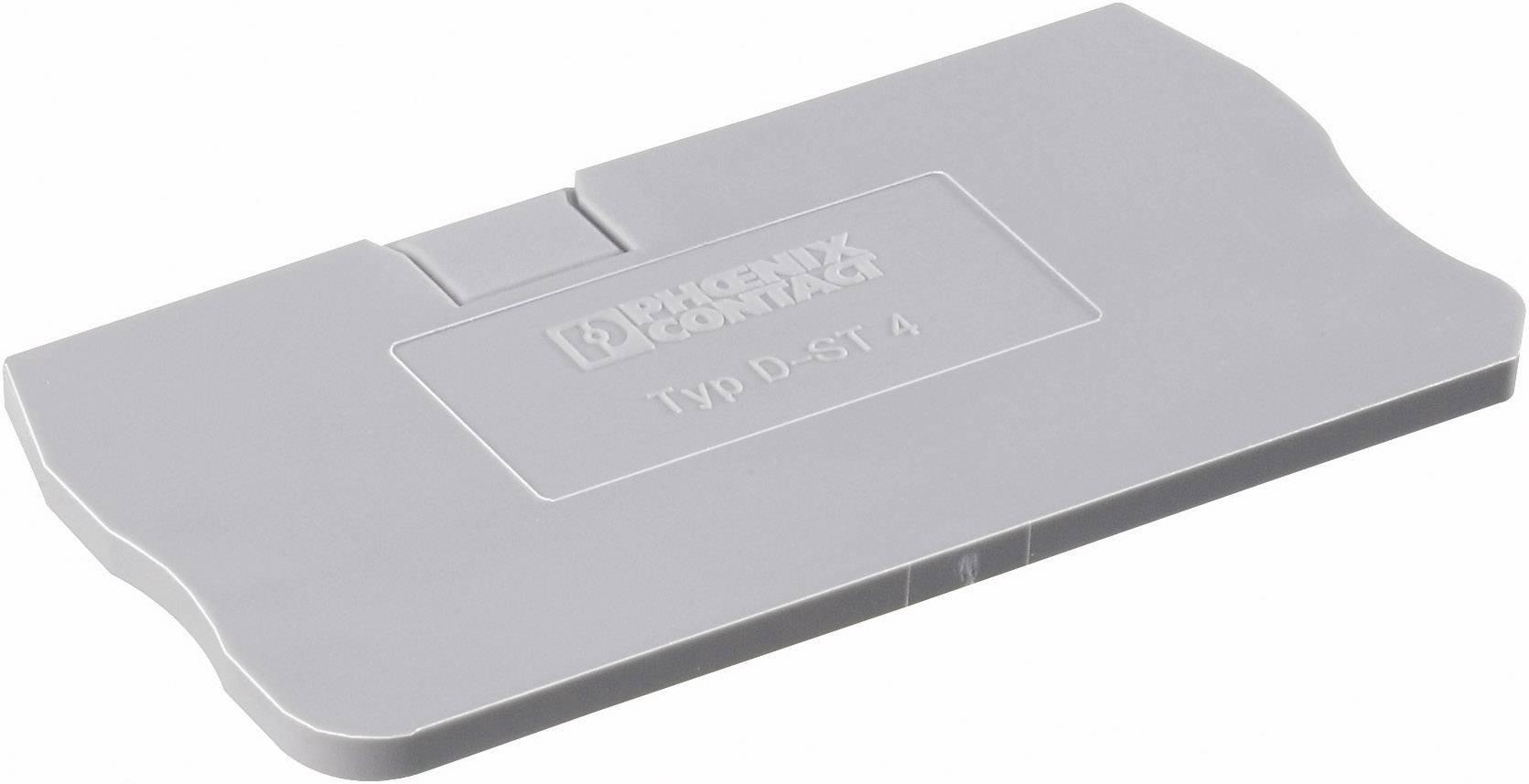 Zakončovací kryt Phoenix Contact D-ST 4 (3030420), pistolová šedá