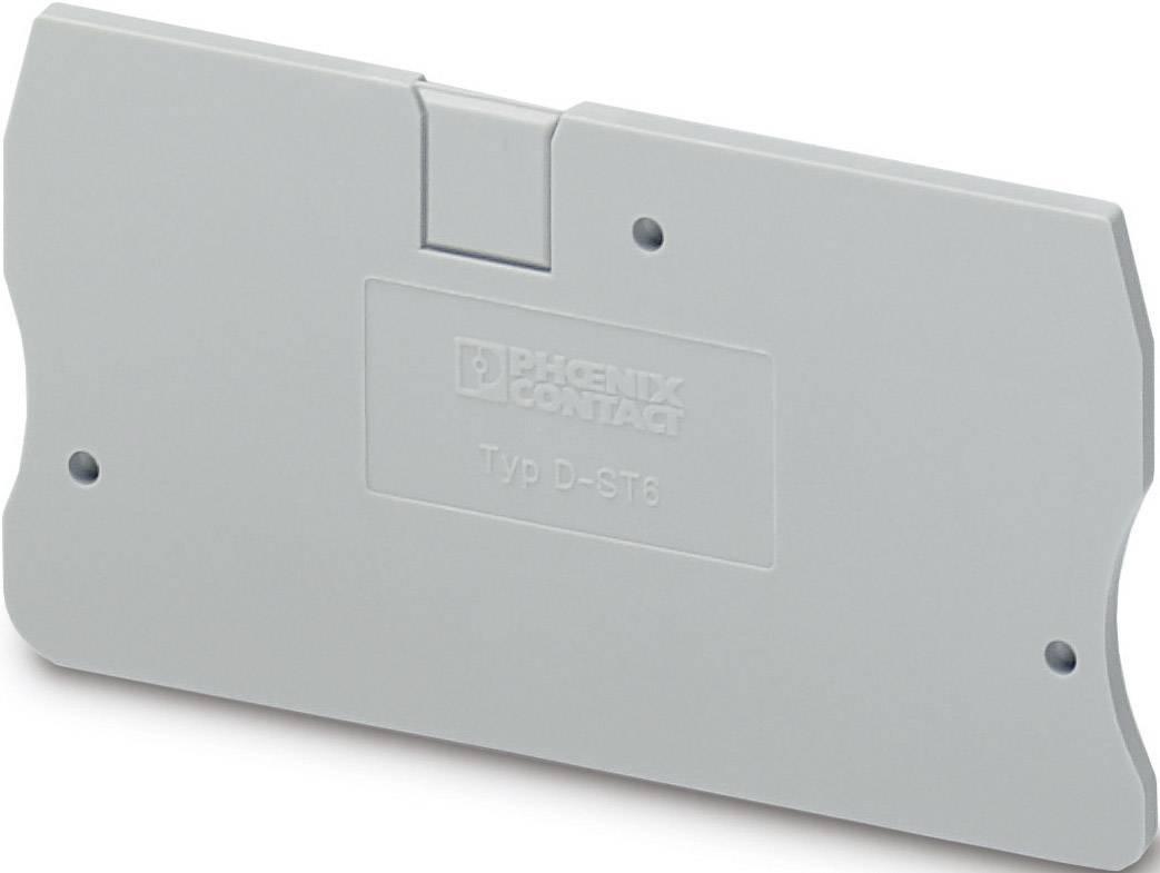 Zakončovací kryt Phoenix Contact D-ST 6 (3030433), pistolová šedá