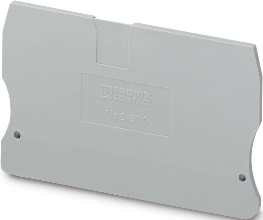 Zakončovací kryt Phoenix Contact D-ST 10 (3036644), pistolová šedá