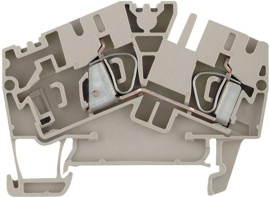 Průchozí svorka řadová Weidmüller ZDU 6-2/2AN (1771380000), 5,1 mm, béžová