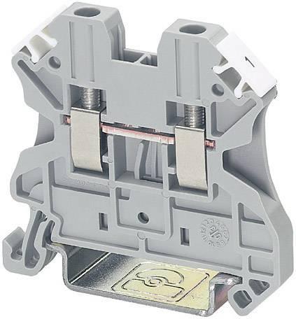 Řadová svorka Phoenix Contact UT 4 (3044102), šroubovací, 6,2 mm, šedá