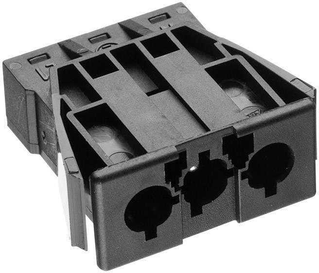 Sieťový konektor Adels-Contact AC 166 GEST/ 3, zásuvka, vstavateľná vertikálna, počet kontaktov: 2 + PE, 16 A, 250 V, čierna, 1 ks