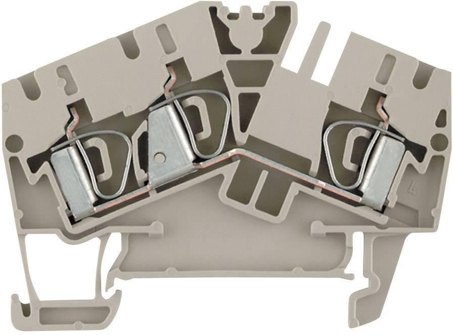 Průchozí svorka řadová Weidmüller ZDU 6-2/3AN (1771410000), 5,1 mm, béžová