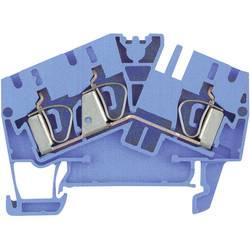 Průchozí svorka řadová Weidmüller ZDU 2.5-2/3AN BL (1706040000), 5,1 mm, atolově modrá