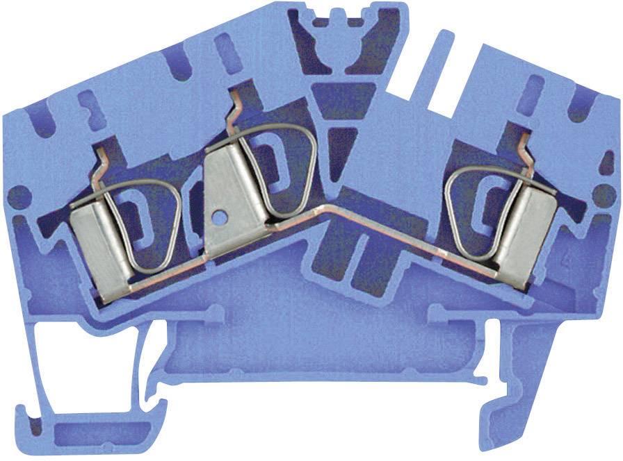 Průchozí svorka řadová Weidmüller ZDU 4-2/3AN BL (1770860000), 5,1 mm, atolově modrá